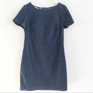 Boden Dark Denim Short Sleeve Shift Dress Size 6